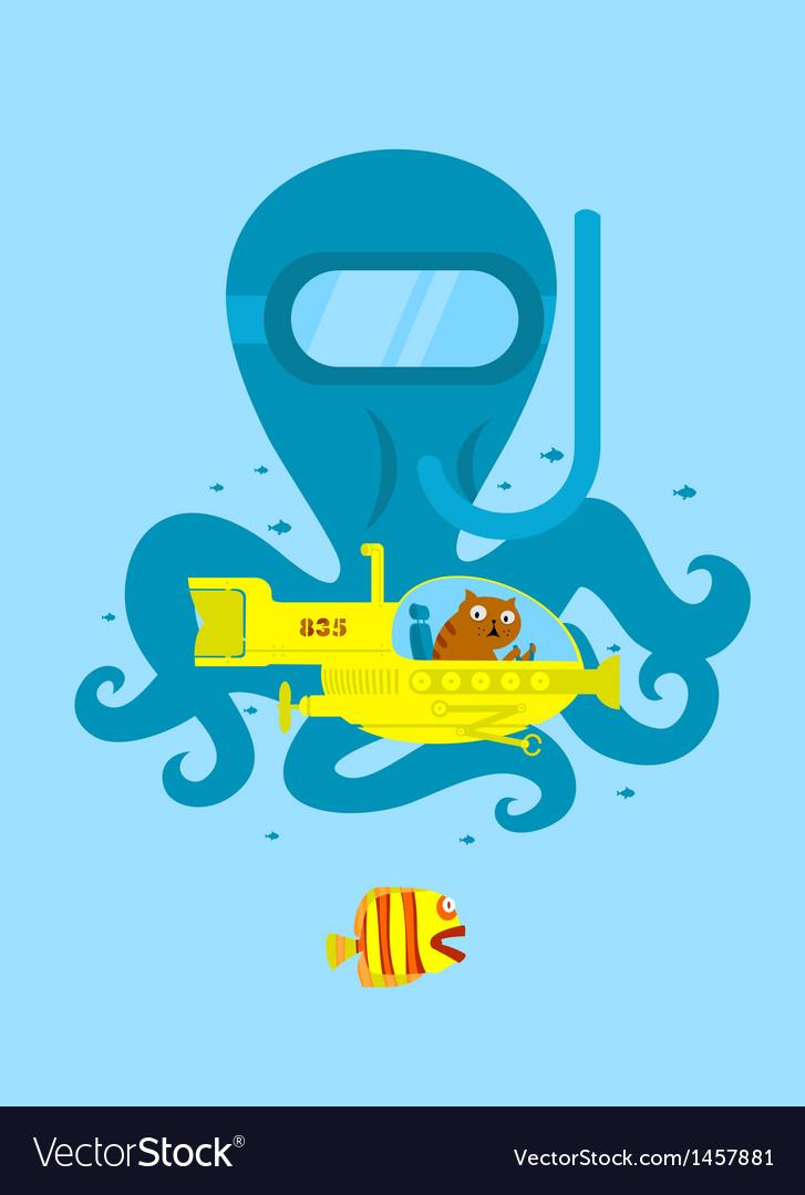 Underwater adventure vector | Price: 1 Credit (USD $1)