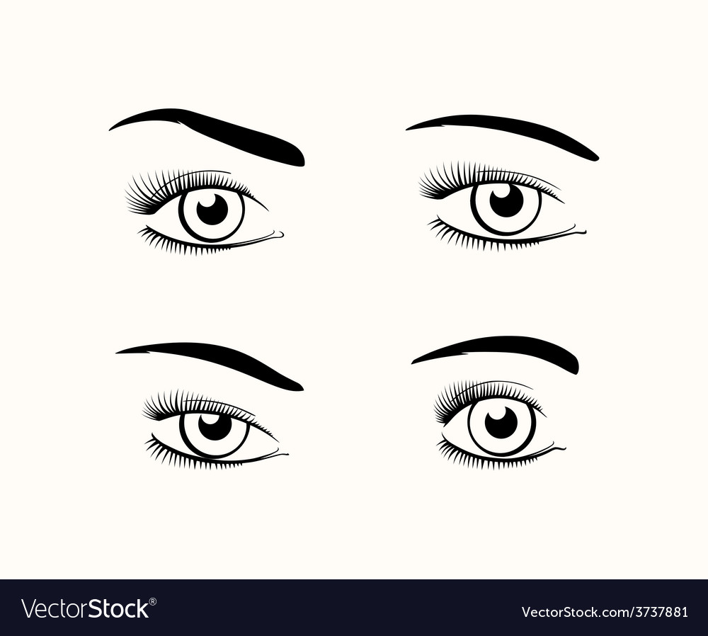 Woman eye silhouettes vector | Price: 1 Credit (USD $1)