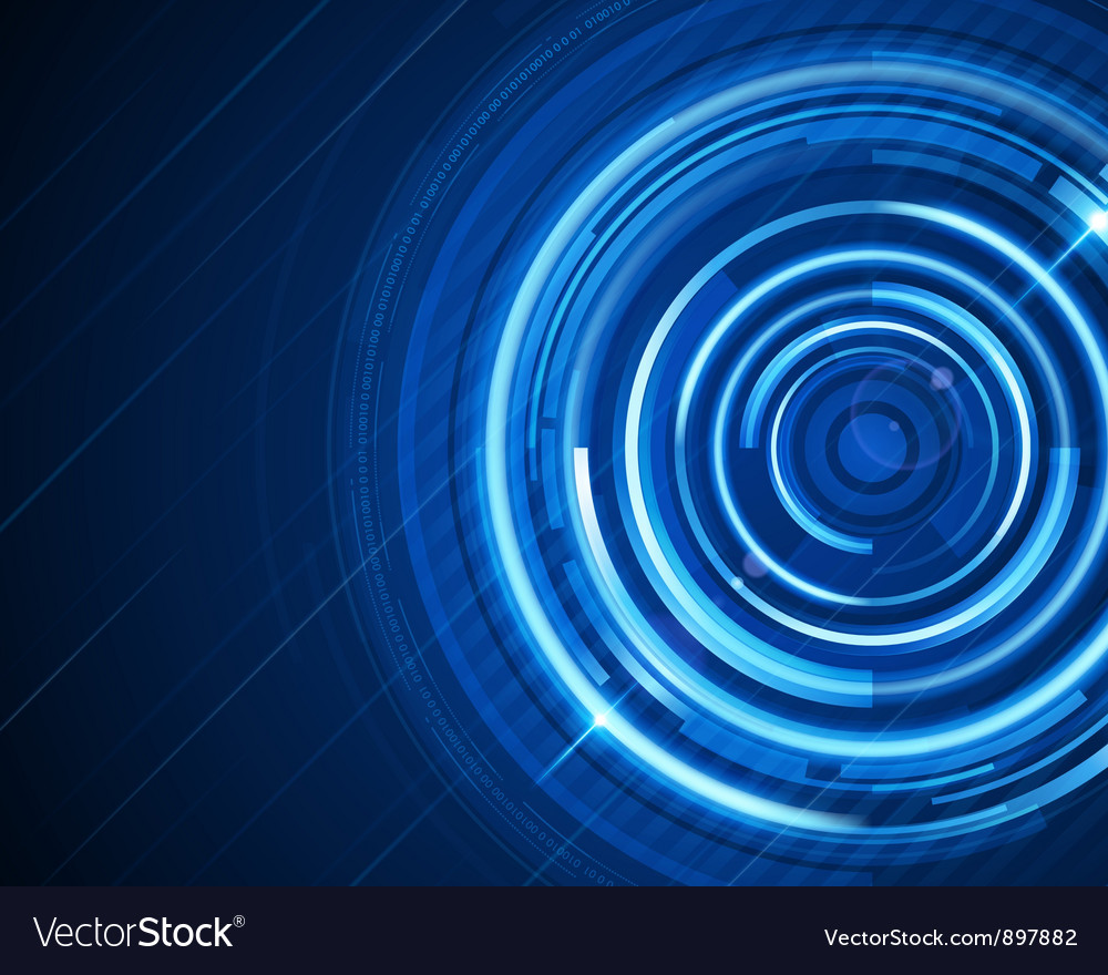 Abstract technology circles and digital light vector | Price: 1 Credit (USD $1)