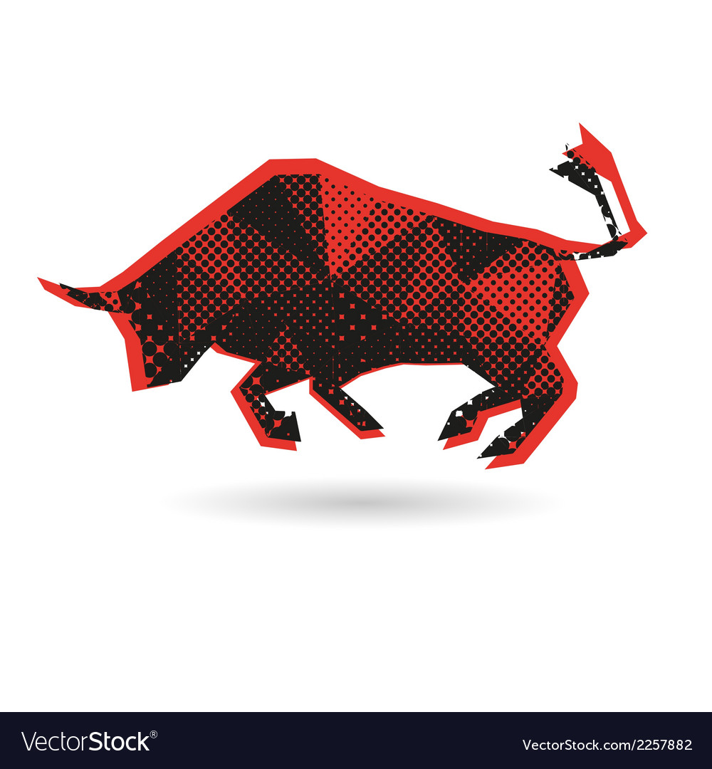 Bull abstract isolated vector | Price: 1 Credit (USD $1)