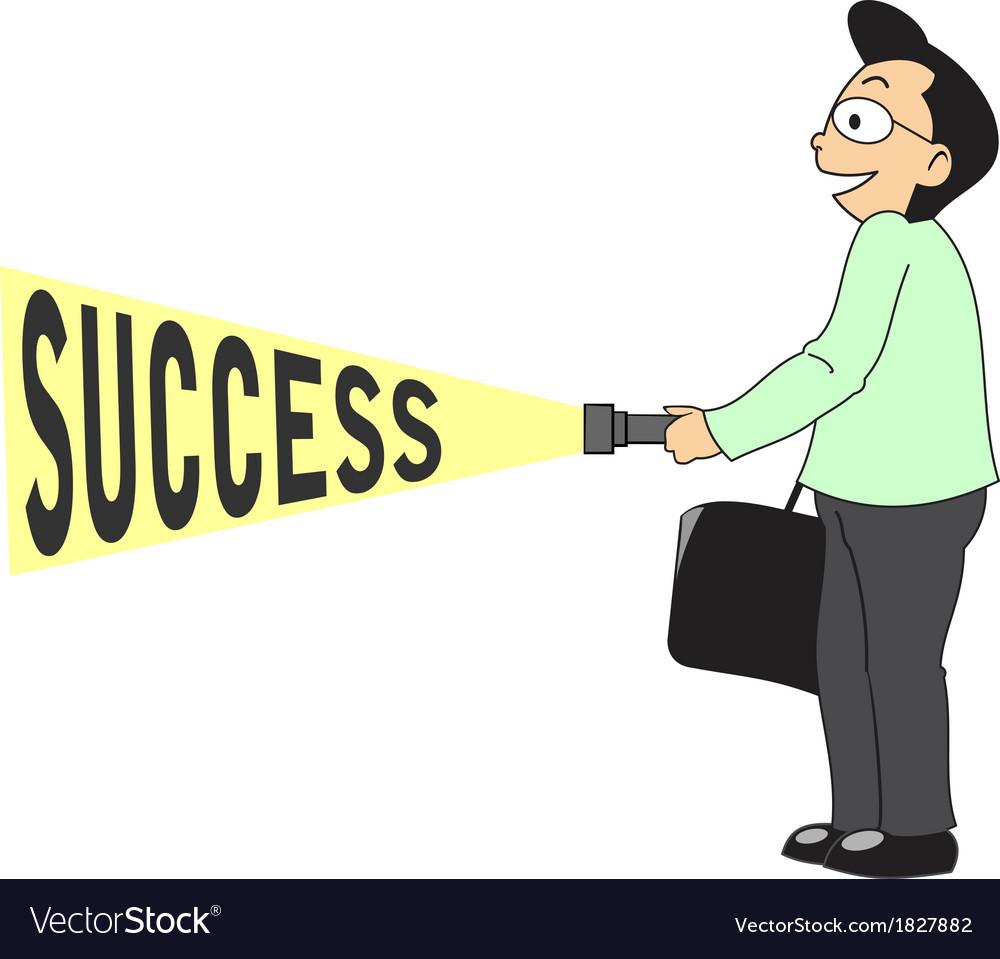 Businessman find success vector | Price: 1 Credit (USD $1)