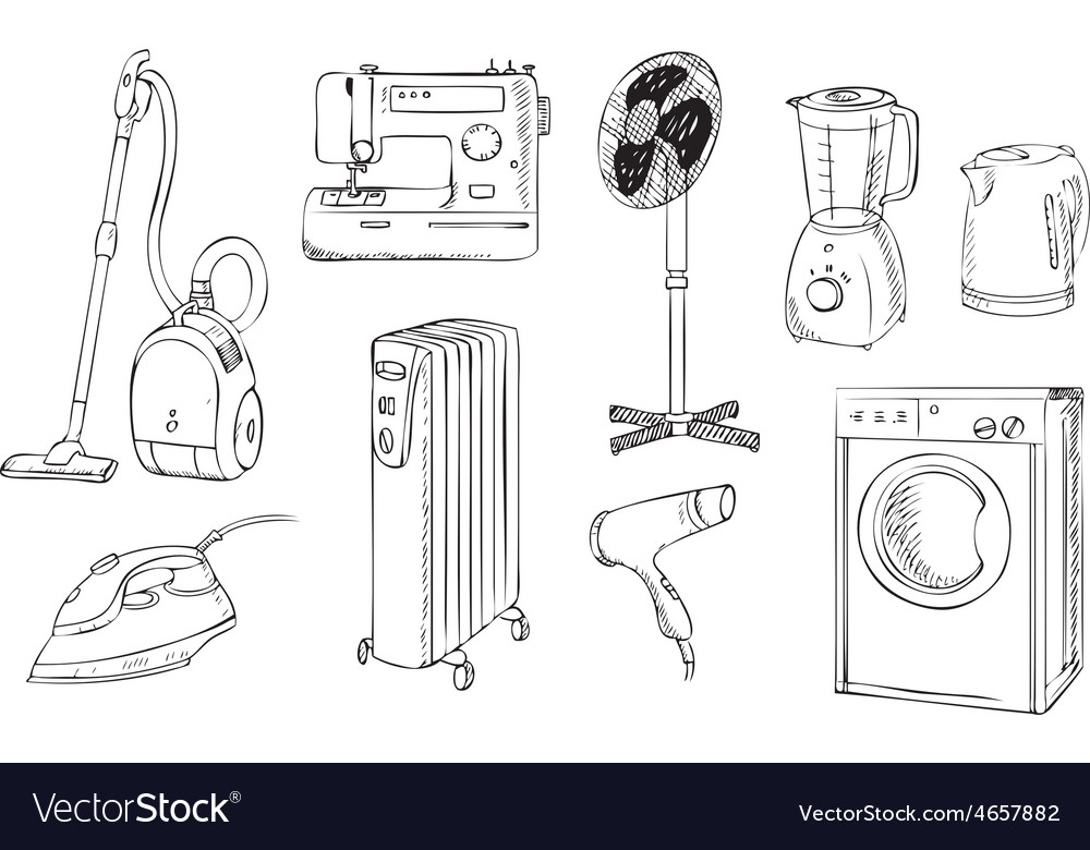 Everyday household appliances set vector | Price: 1 Credit (USD $1)
