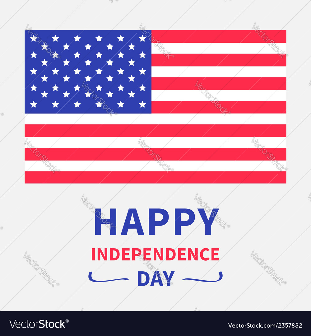 Happy independence day united states of america vector | Price: 1 Credit (USD $1)