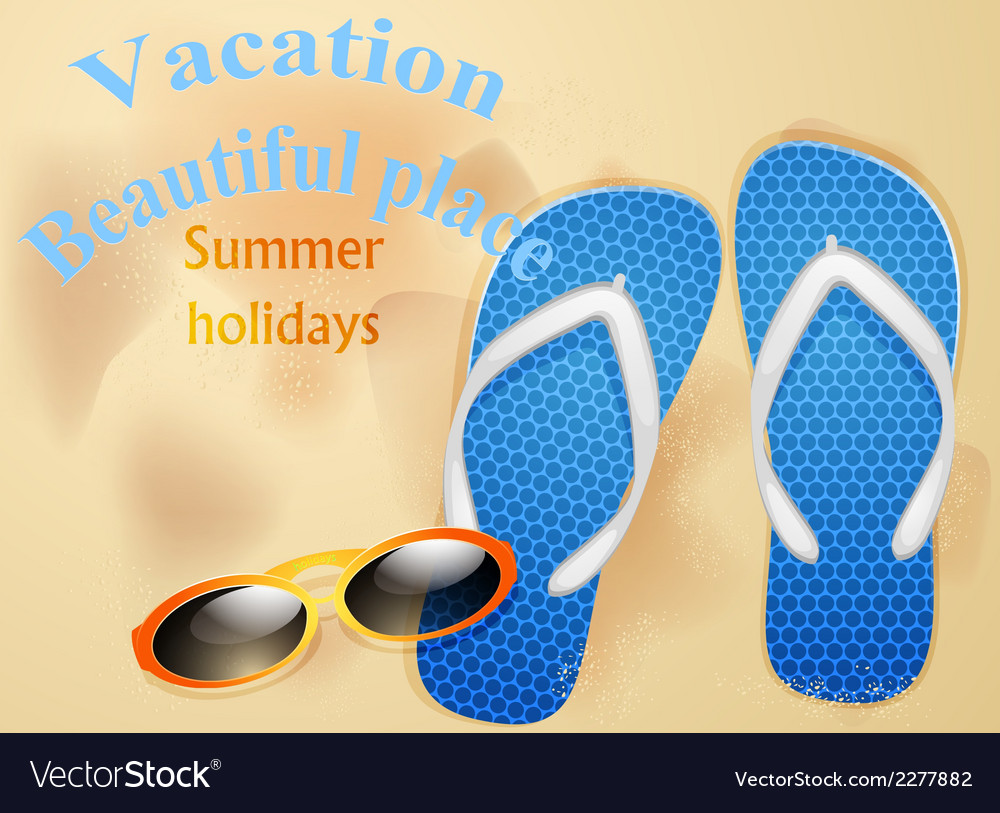 On the beach summer holidays vector | Price: 1 Credit (USD $1)