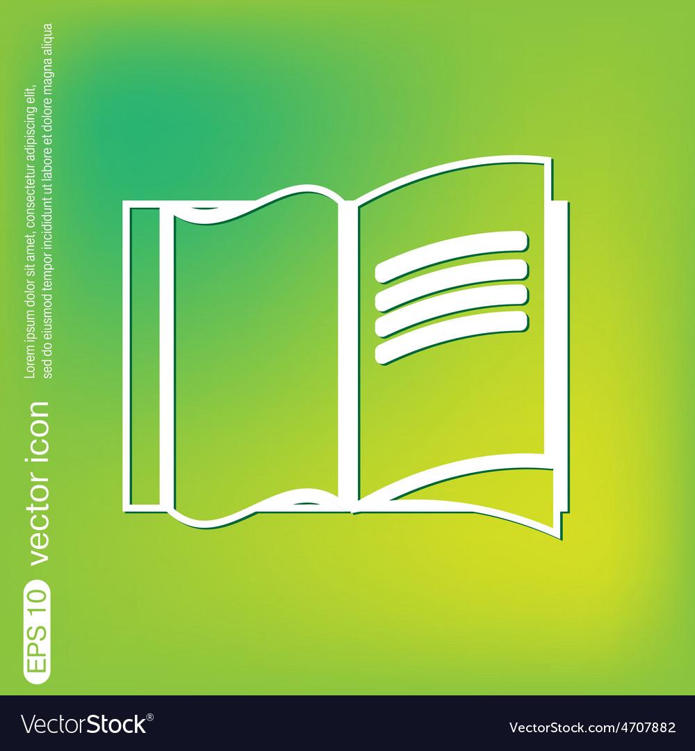 Open book icon vector | Price: 1 Credit (USD $1)