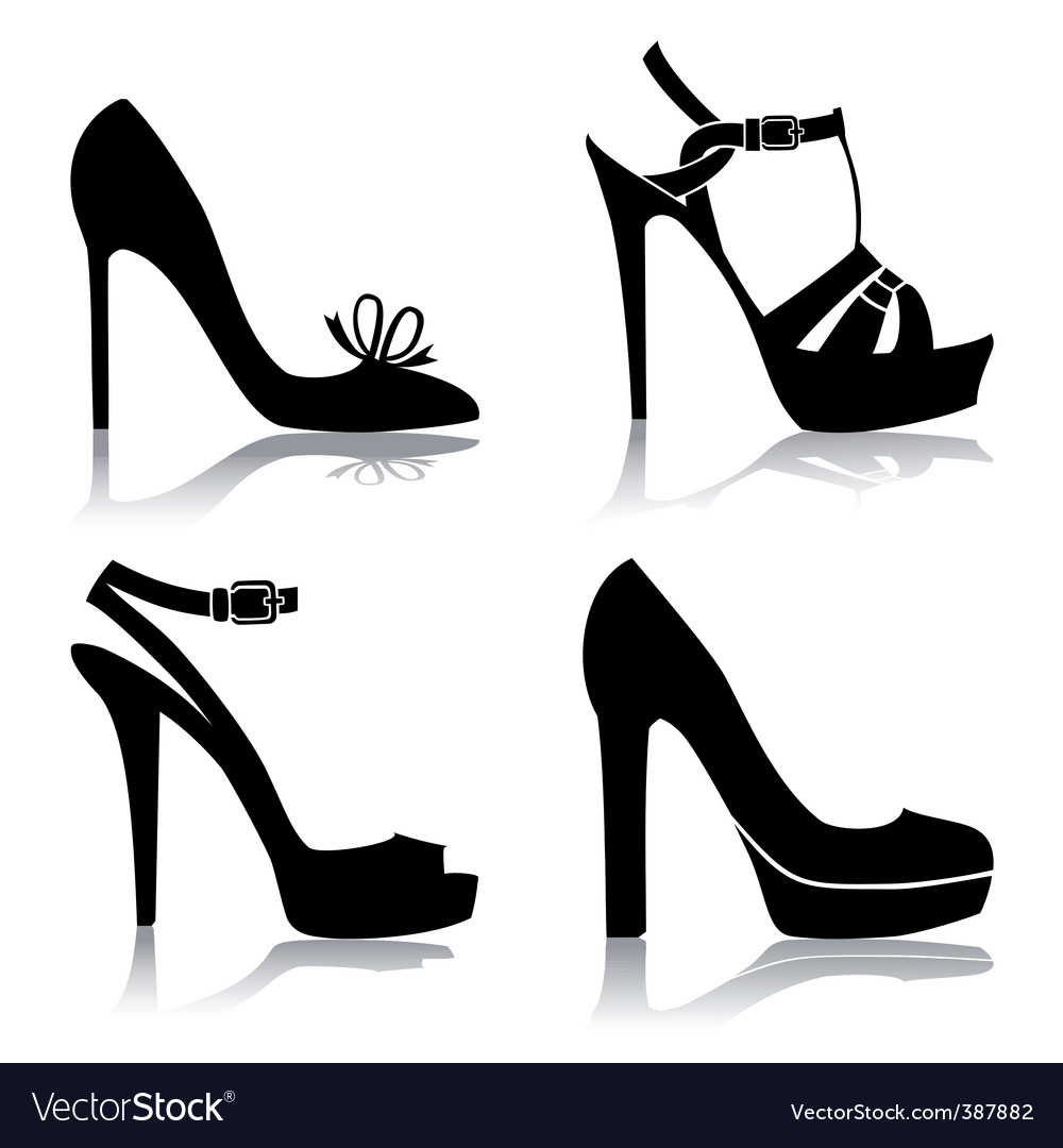 Shoes collection vector