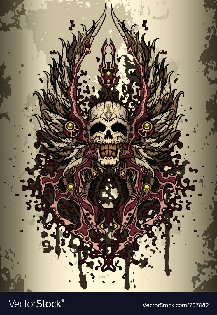 Skull crest vector | Price: 3 Credit (USD $3)