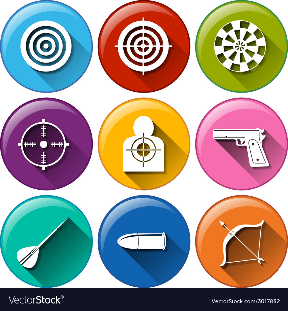 Target icons vector | Price: 1 Credit (USD $1)