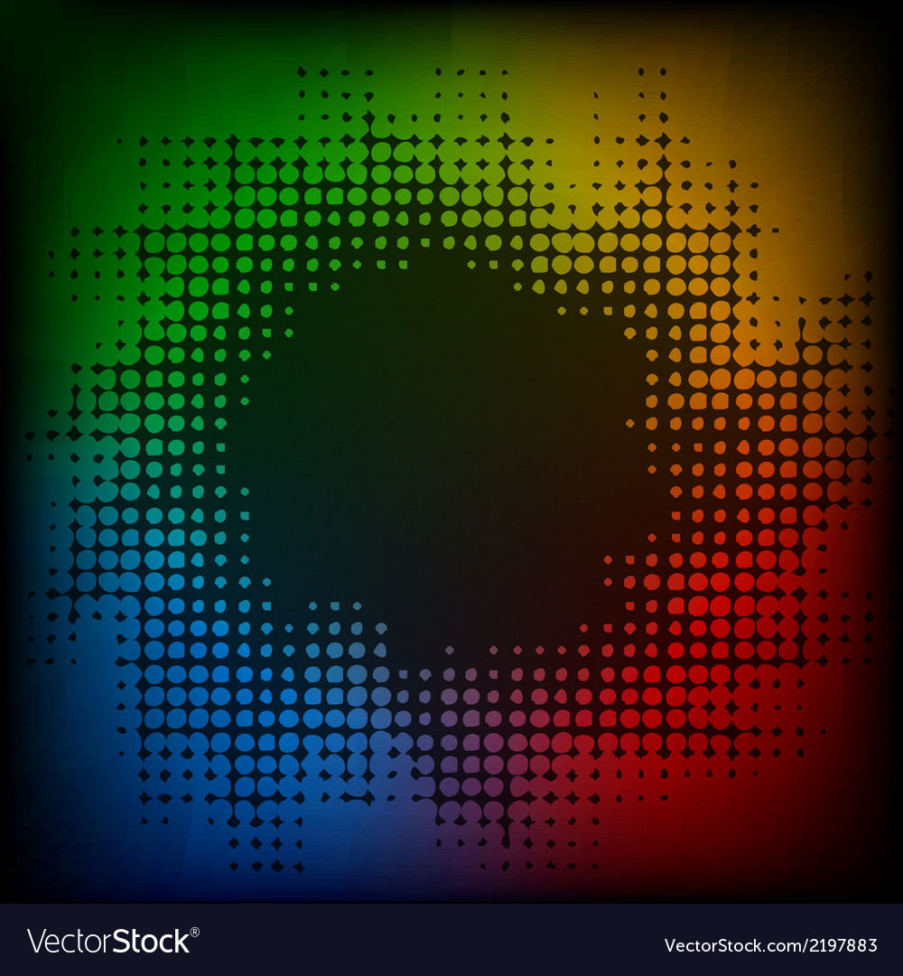 Abstract colorful halftone background vector | Price: 1 Credit (USD $1)