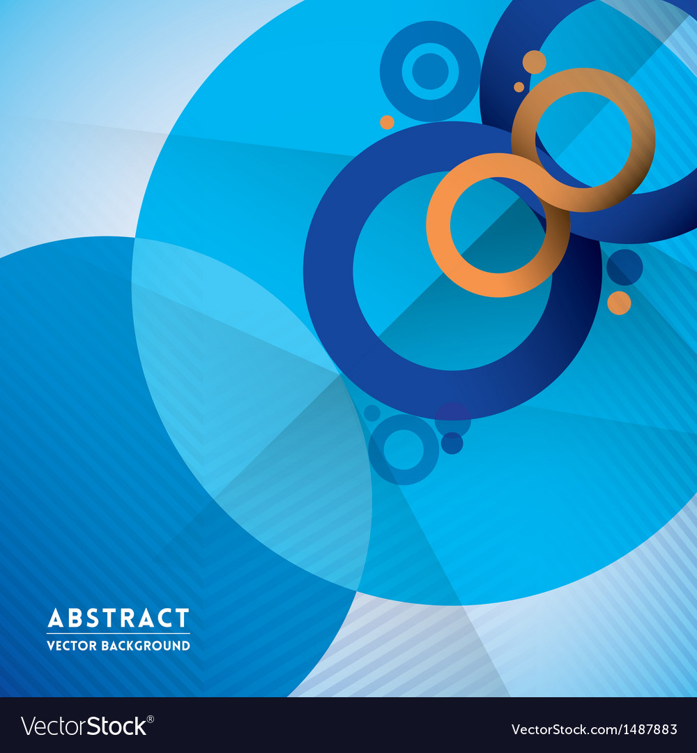 Abstract infinity symbol and circle shape backgrou vector | Price: 1 Credit (USD $1)
