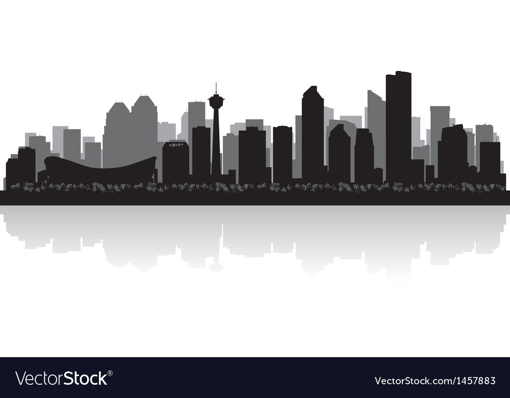 Calgary canada city skyline silhouette vector | Price: 1 Credit (USD $1)