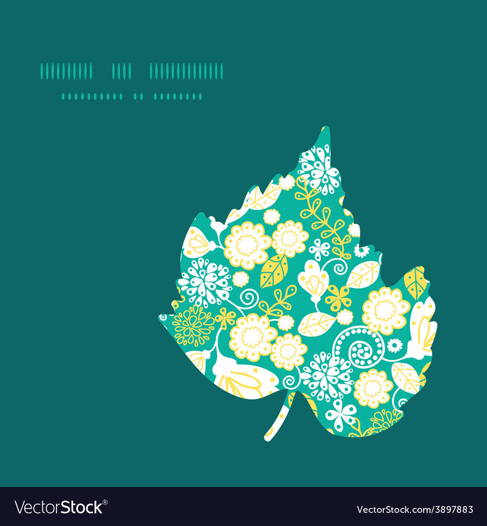 Emerald flowerals leaf silhouette pattern vector   Price: 1 Credit (USD $1)