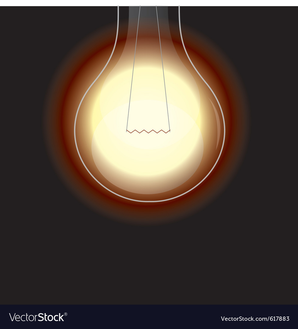 Light bulb is lighting vector   Price: 1 Credit (USD $1)