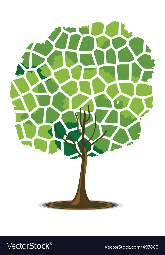 Mosaic tree vector | Price: 1 Credit (USD $1)