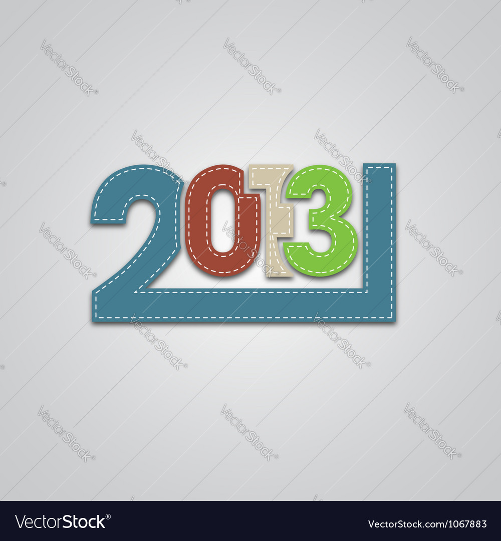 New 2013 year numbers vector | Price: 1 Credit (USD $1)