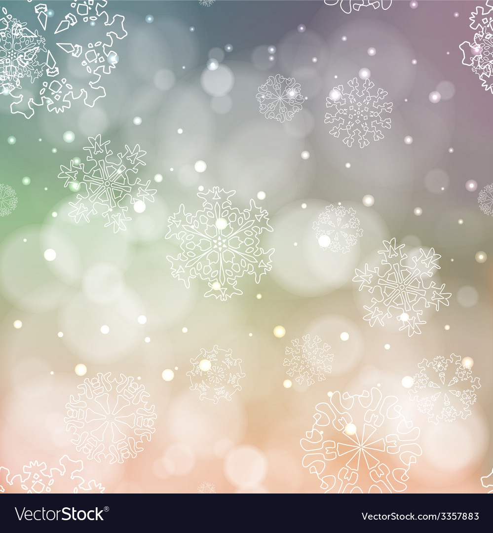 New year blur background with snowflakes vector | Price: 1 Credit (USD $1)