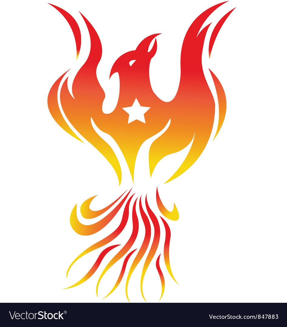 Phoenix bird vector | Price: 1 Credit (USD $1)