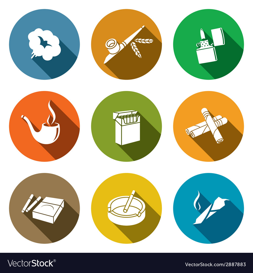 Smoking icon set vector | Price: 1 Credit (USD $1)