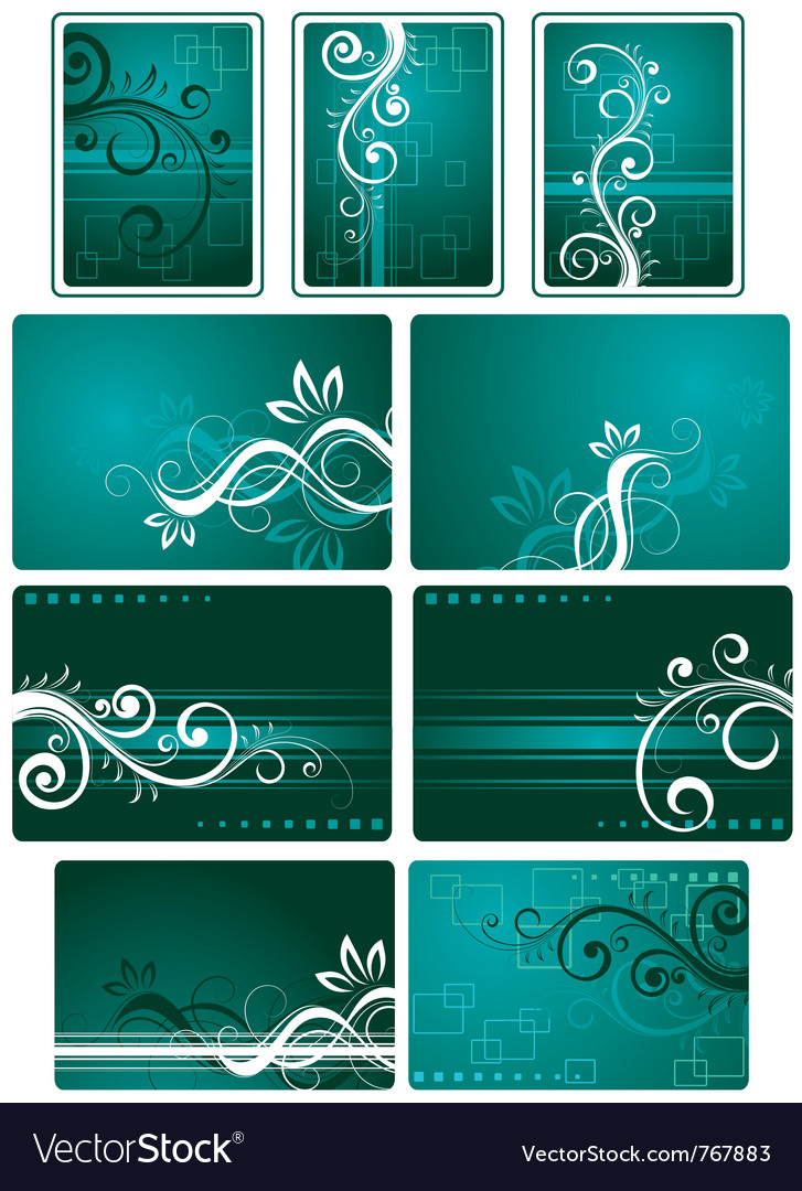 Teal green background set vector | Price: 1 Credit (USD $1)