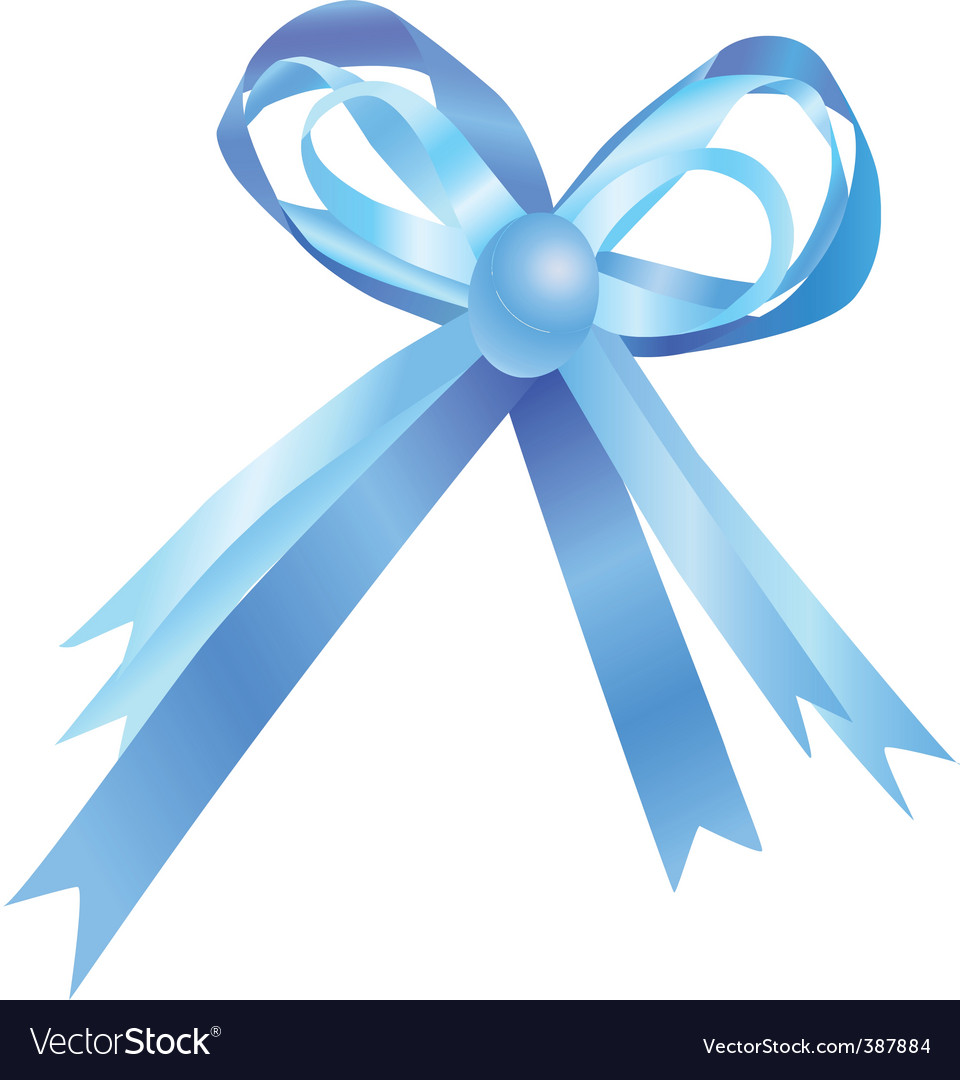 Blue bow vector | Price: 1 Credit (USD $1)