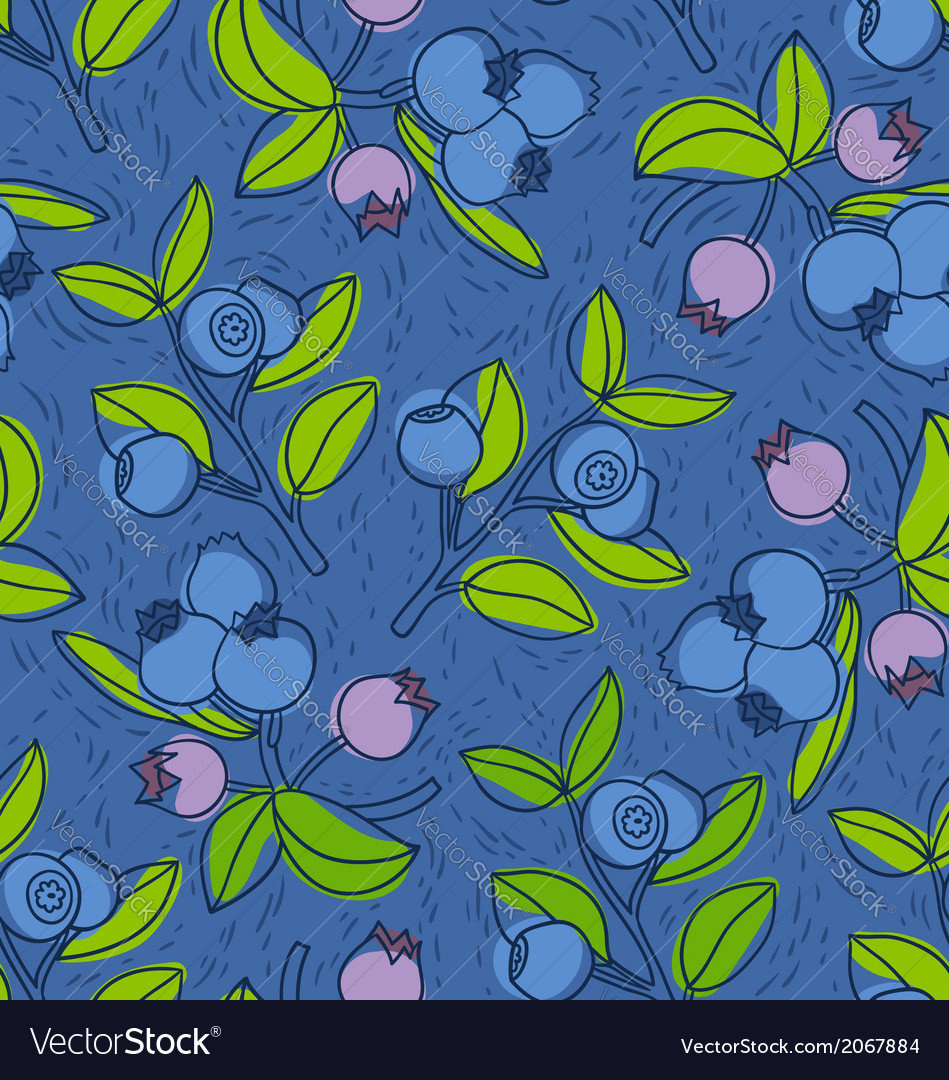 Blueberry and bilberry pattern vector | Price: 1 Credit (USD $1)