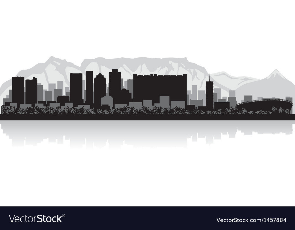 Cape town city skyline silhouette vector | Price: 1 Credit (USD $1)