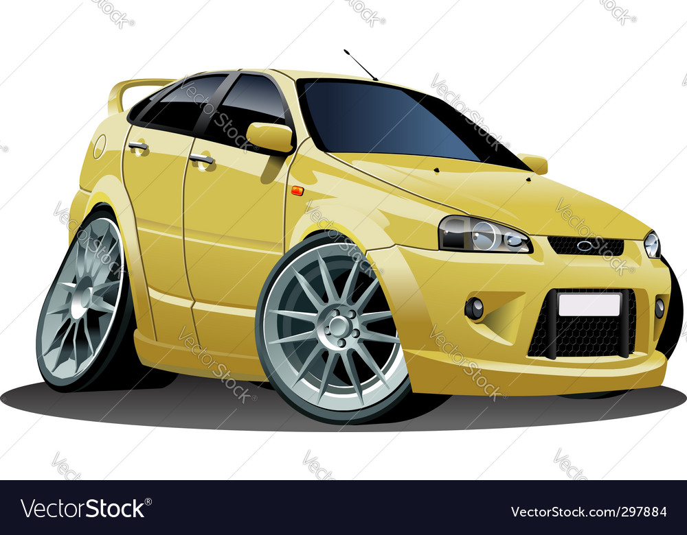 Cartoon car vector | Price: 3 Credit (USD $3)