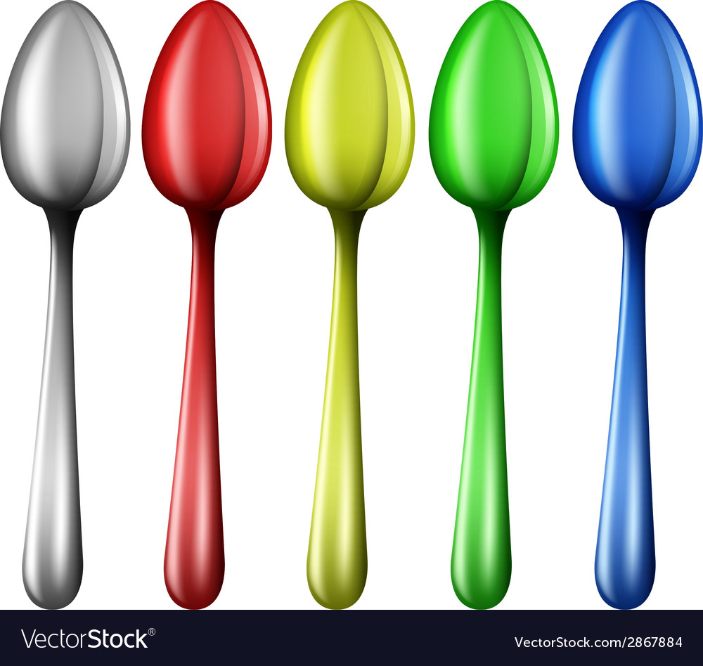 Colourful spoons vector | Price: 1 Credit (USD $1)