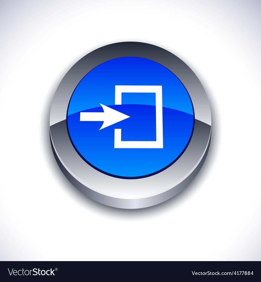 Entrance 3d button vector | Price: 1 Credit (USD $1)