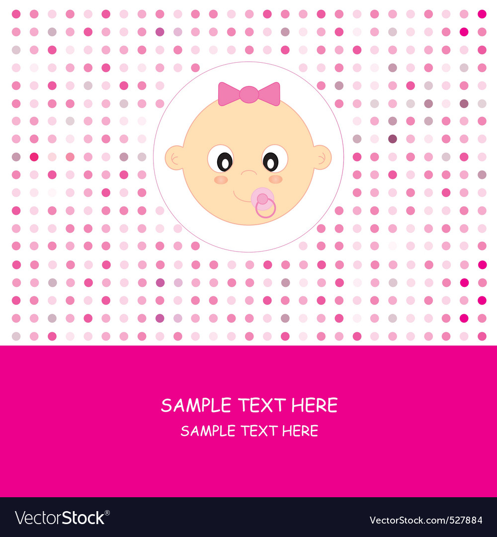 Face baby girl vector | Price: 1 Credit (USD $1)