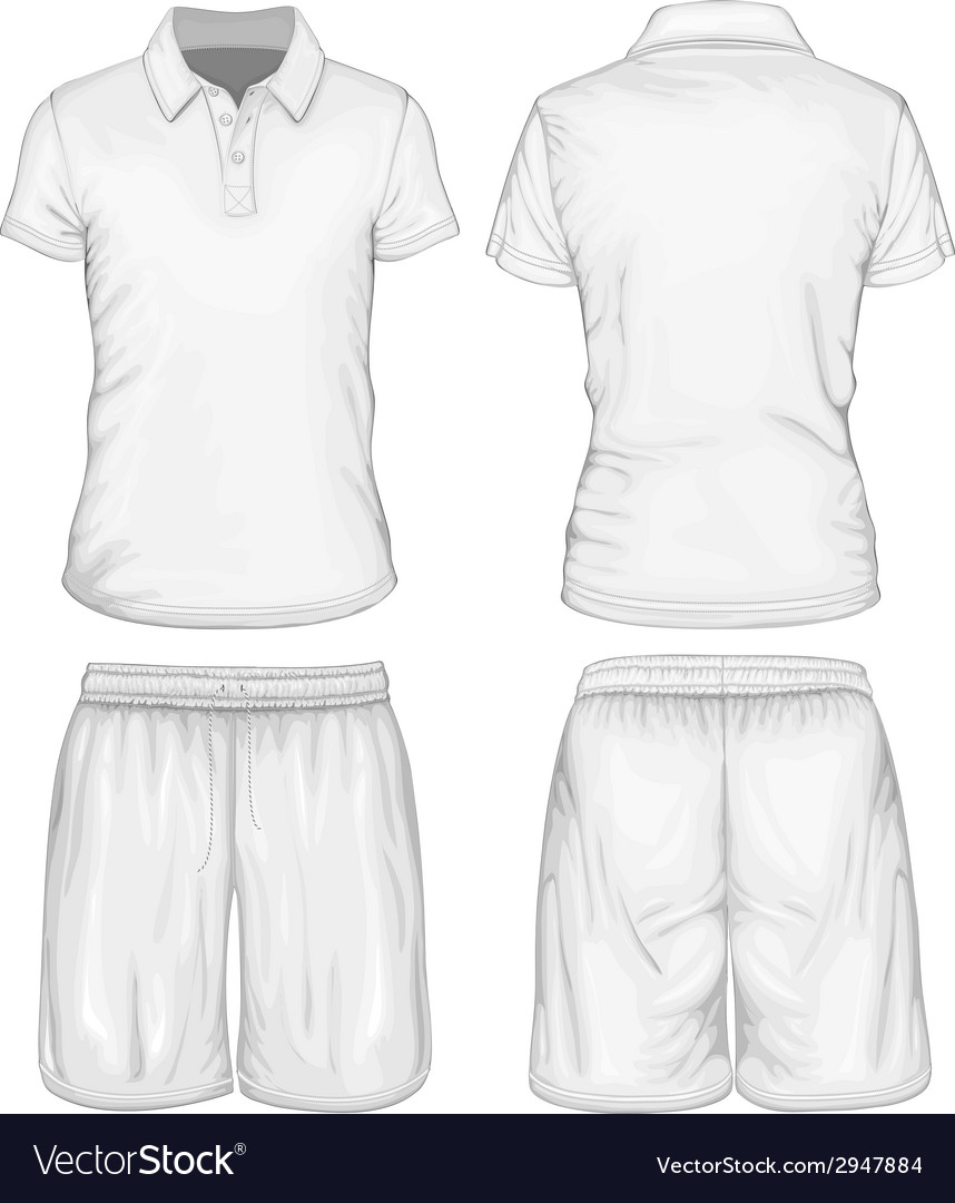 Mens polo-shirt and sport shorts vector | Price: 1 Credit (USD $1)
