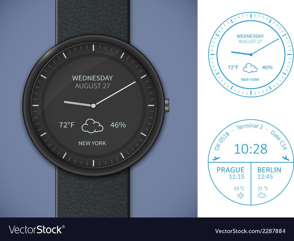 Smartwatch app template vector | Price: 1 Credit (USD $1)