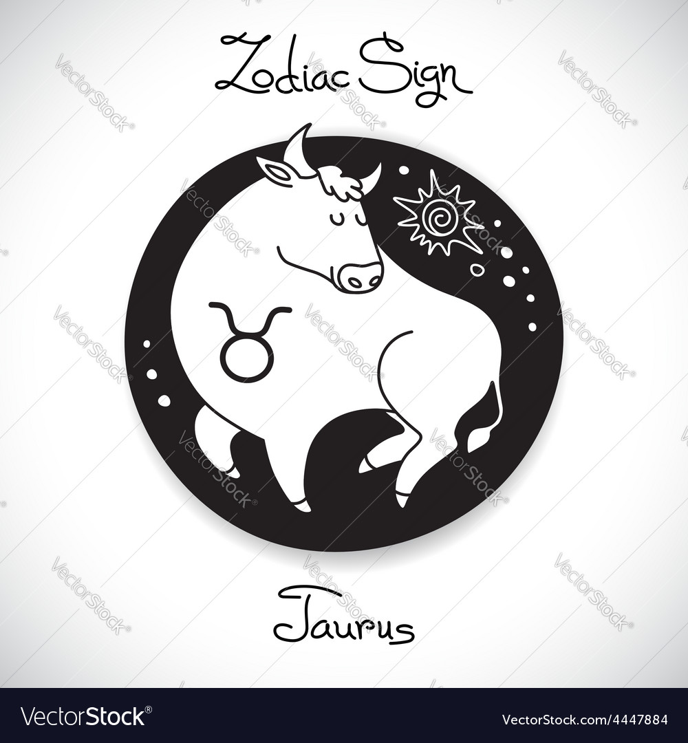 Taurus zodiac sign of horoscope circle emblem in vector | Price: 1 Credit (USD $1)