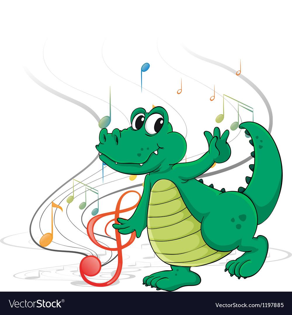 A dancing dinosaur vector | Price: 1 Credit (USD $1)