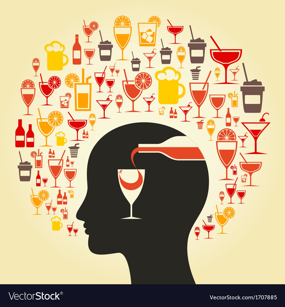 Alcohol a head vector | Price: 1 Credit (USD $1)