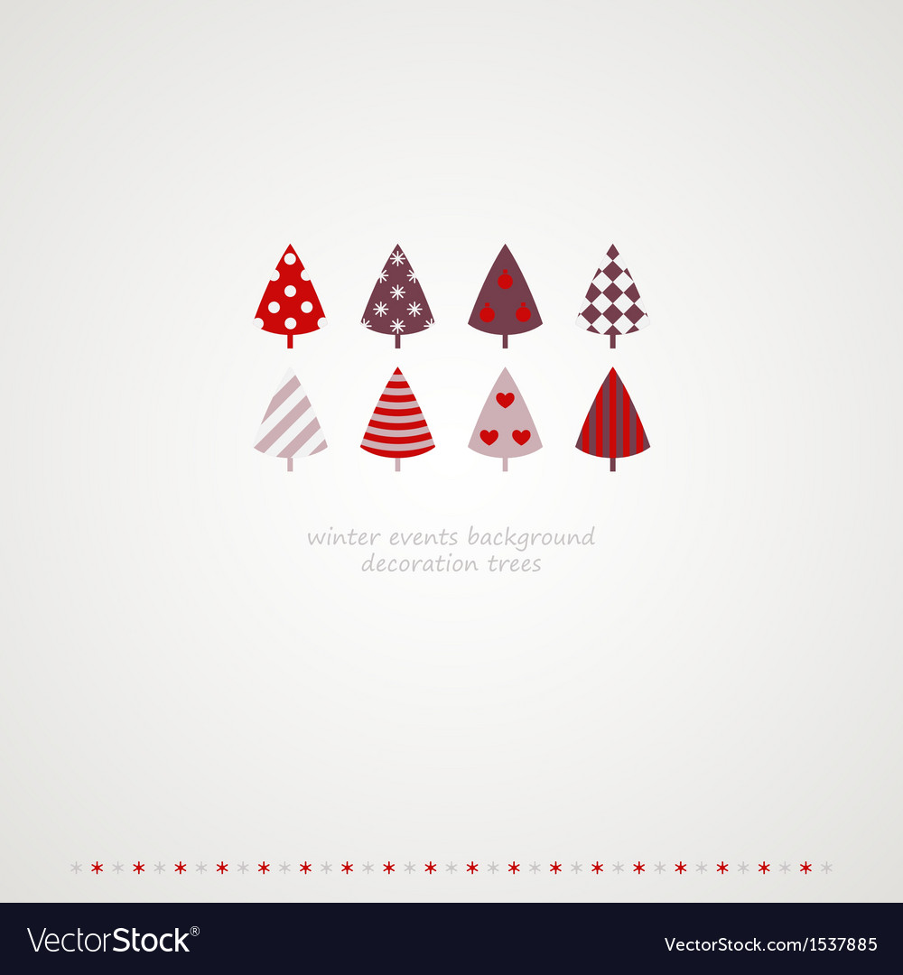 Fir-trees winter events background vector | Price: 1 Credit (USD $1)