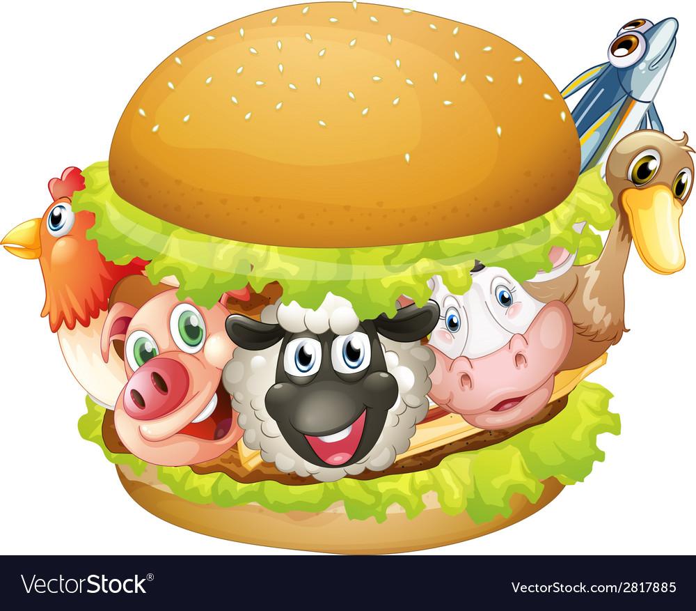 Hamburger vector | Price: 3 Credit (USD $3)