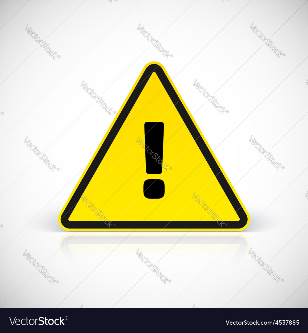 Hazard warning attention sign vector | Price: 1 Credit (USD $1)