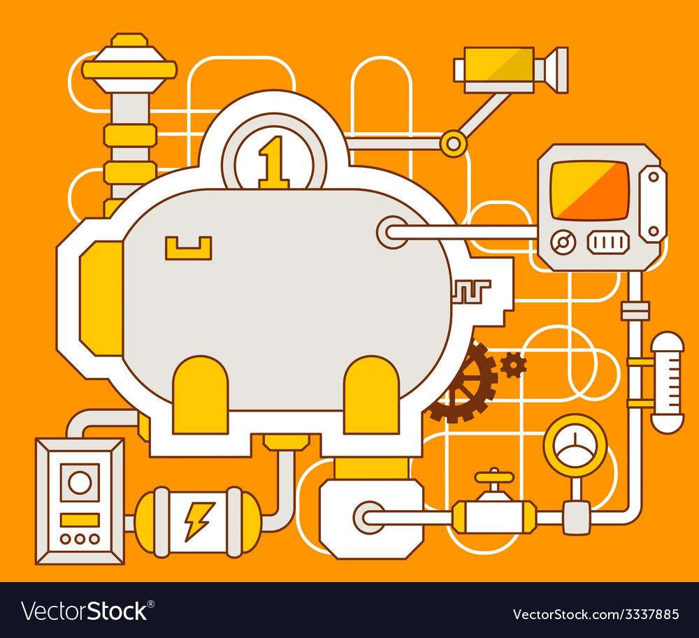 Industrial of the mechanism of bank pig vector | Price: 3 Credit (USD $3)