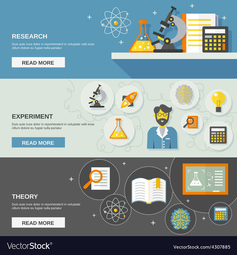 Science and research banner vector | Price: 1 Credit (USD $1)