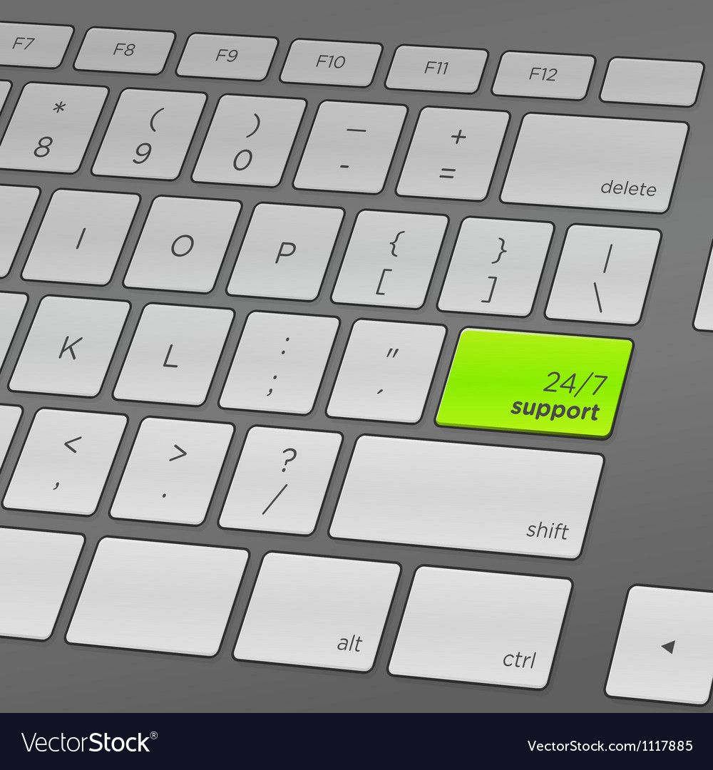 Support keyboard vector | Price: 1 Credit (USD $1)
