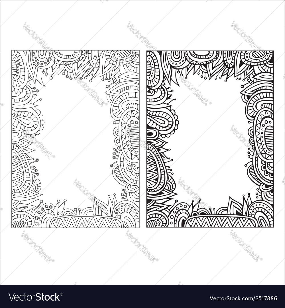 Abstract decorative ethnic borders vector | Price: 1 Credit (USD $1)