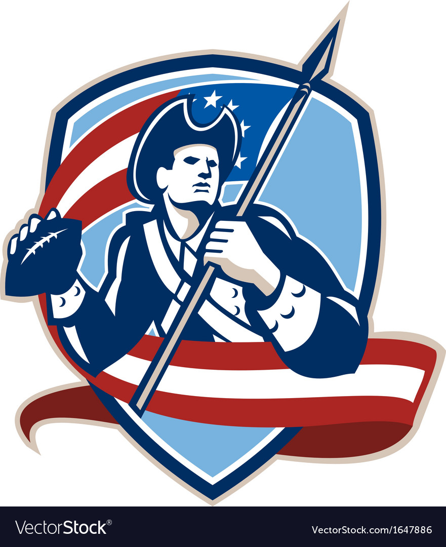 American patriot football quarterback shield vector | Price: 1 Credit (USD $1)