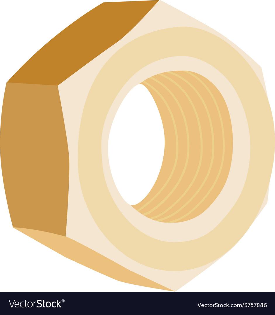 Brass screw female vector | Price: 1 Credit (USD $1)