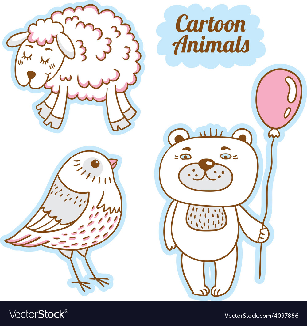 Cartoon animals 6541513 12 vector | Price: 1 Credit (USD $1)