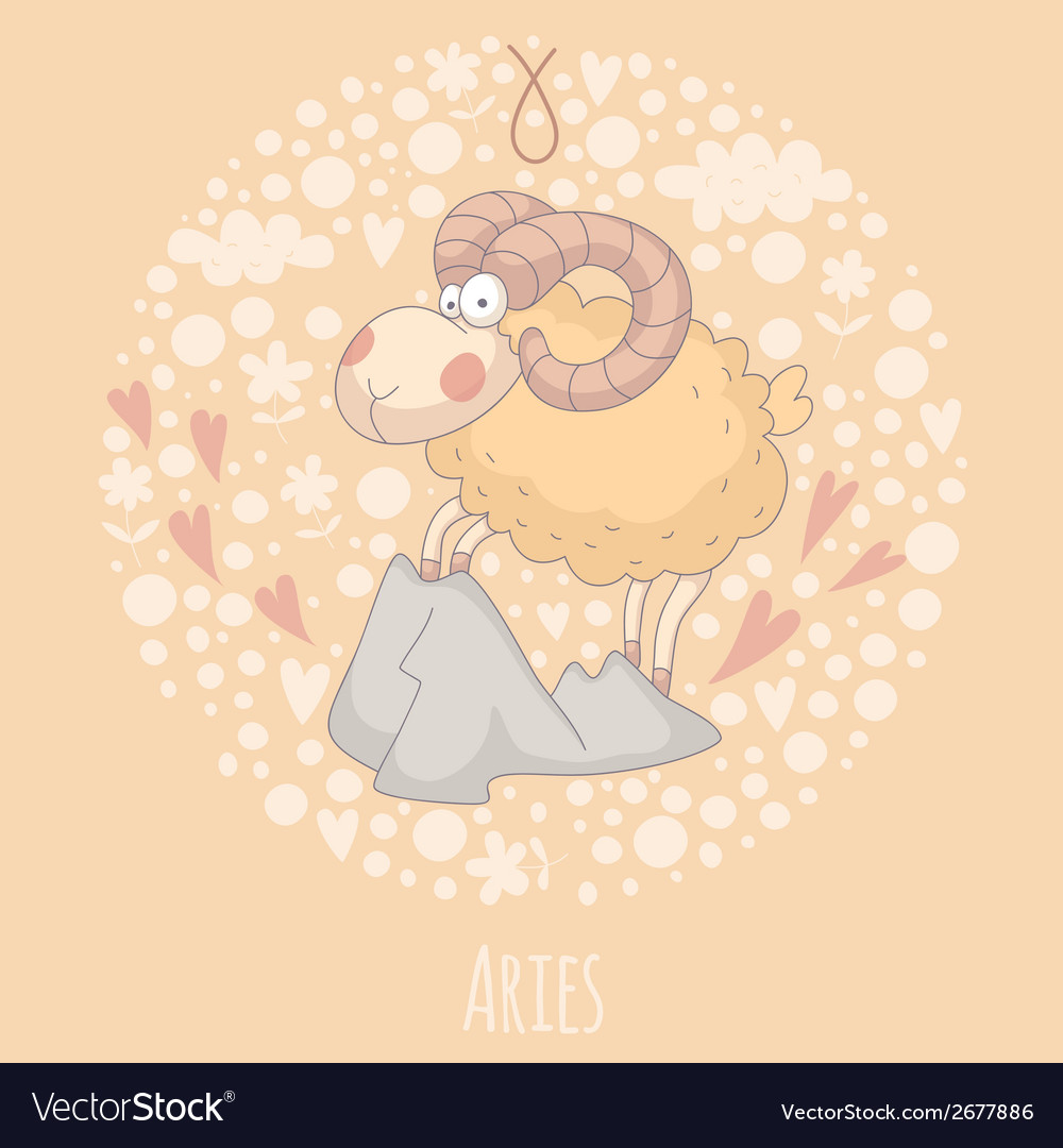 Cartoon of the ram aries vector | Price: 1 Credit (USD $1)