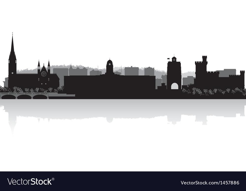 Cork city skyline silhouette vector | Price: 1 Credit (USD $1)