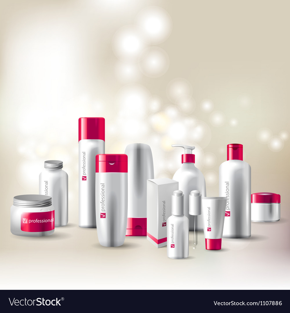 Cosmetics package vector