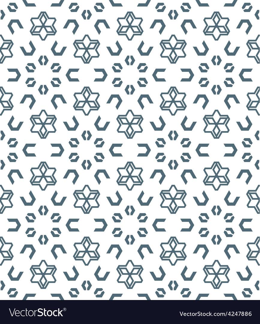 Geometric abstract monochrome mosaic seamless vector | Price: 1 Credit (USD $1)