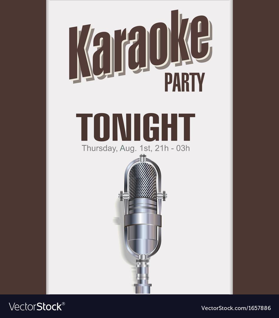 Karaoke party background vector | Price: 1 Credit (USD $1)